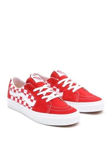 Vans Vans VN0A4UUK4W91 UA SK8-Low Kırmızı Kare Desenli Kadın Lifestyle Ayakkabı Kırmızı